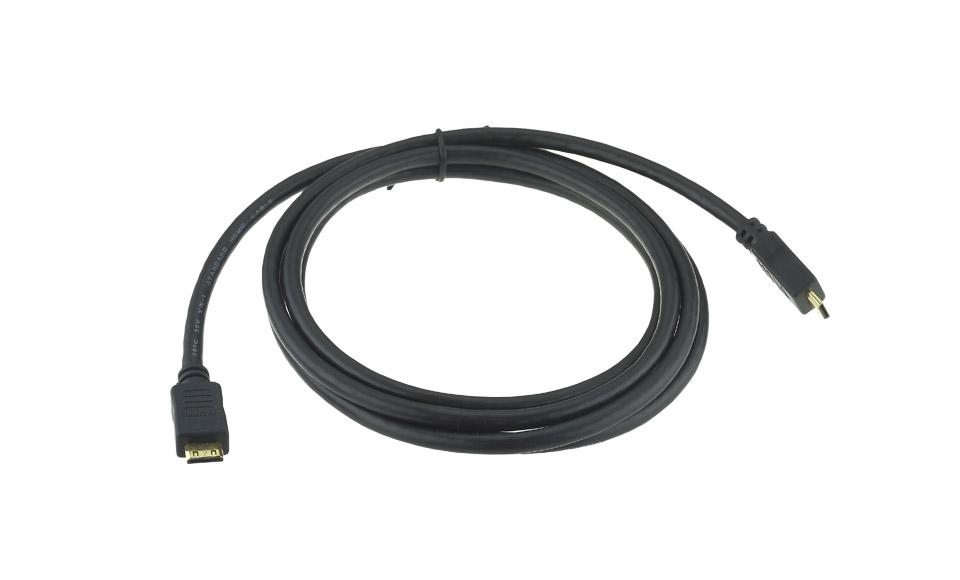 Cavo 1,8 Metri mini HDMI:  maschio > maschio  (tipo C, High Speed, Alta Qualità)